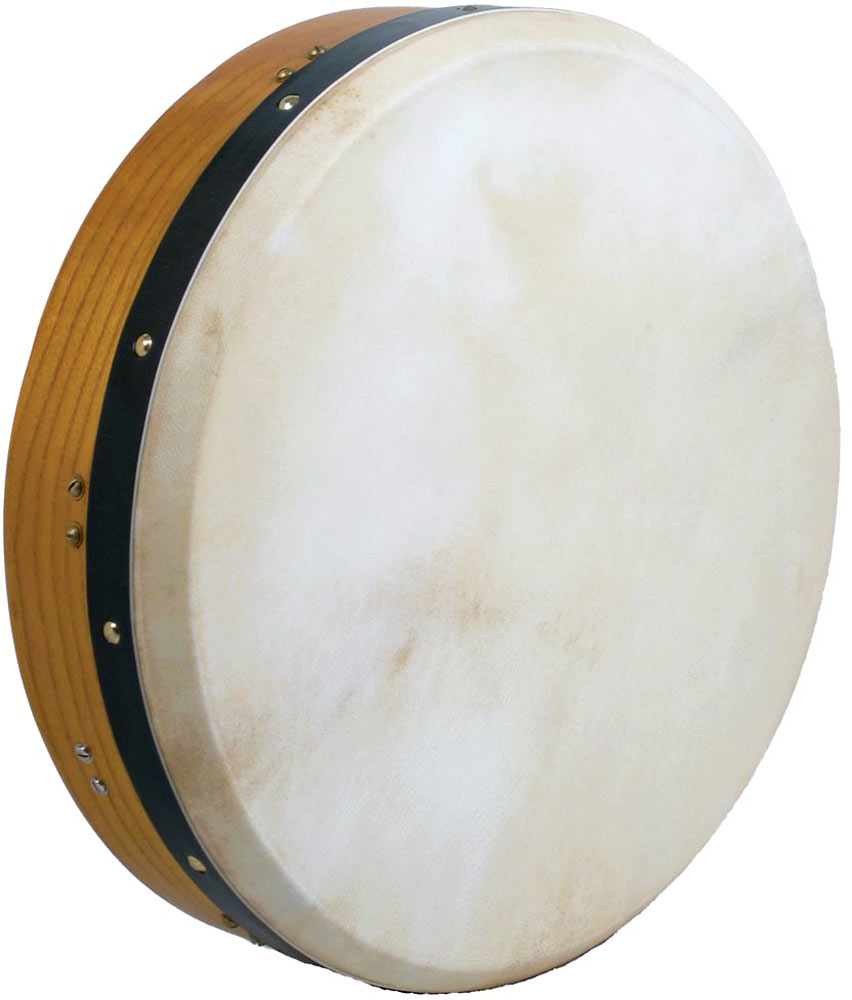 Glenluce 16inch Bodhran, Tuneable Excellent starter drum with a single adjustable strut, 3.5inch deep rim