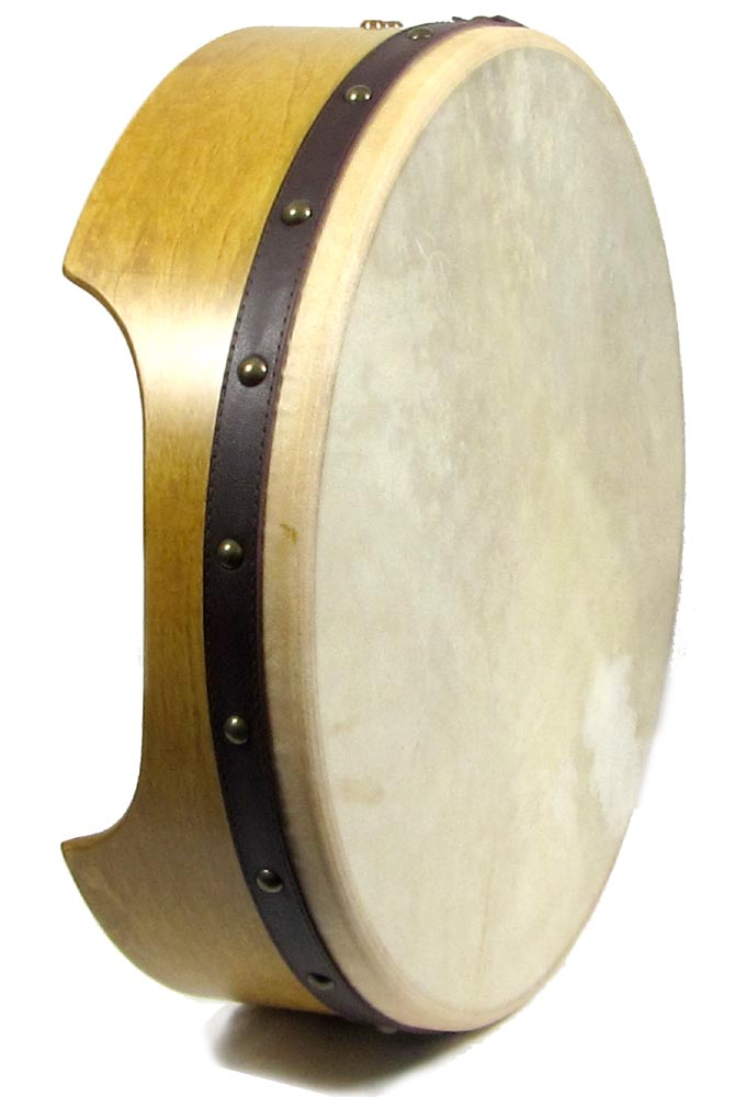 Waltons Pro 16inch Bodhran 12cm Deep. Rounded edges with an arm cut out