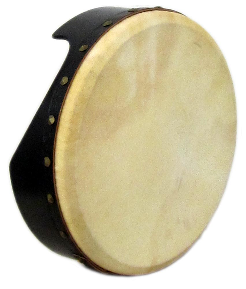 Waltons Pro 16inch Bodhran, Tuneable Black finish. 12.5cm Deep. Rounded edges with an arm cut out