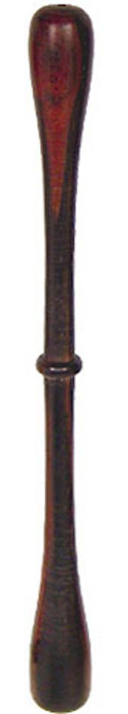 Glenluce Blackwood Bodhran Beater, Ridge 24cm long bodhran tipper with central ridge