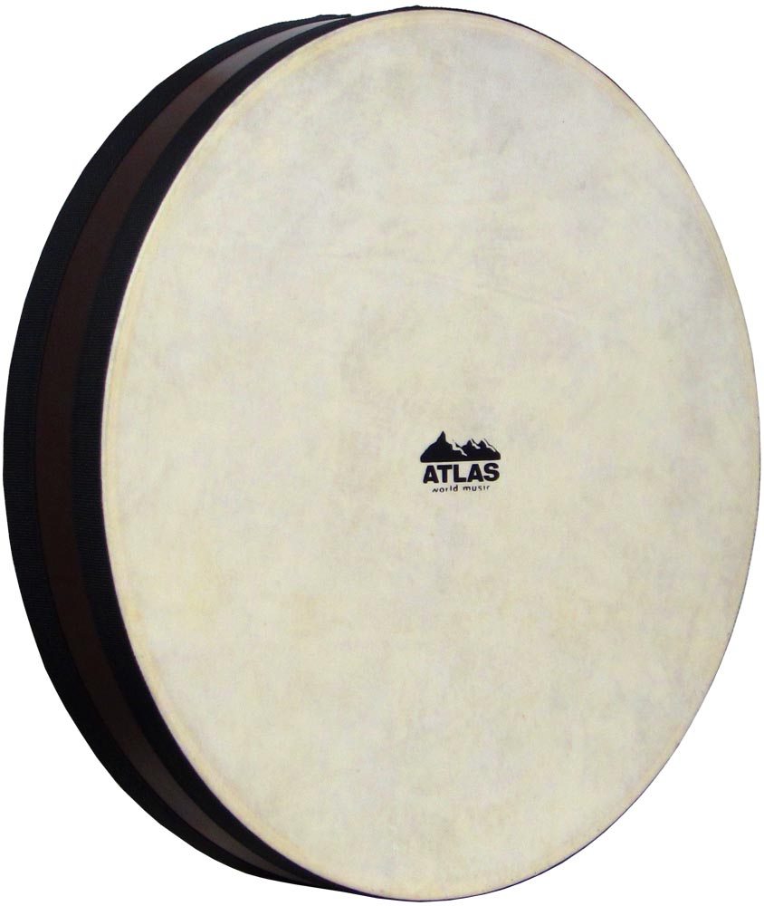 Atlas Ocean Drum, 16inch Diameter Brown stained Maple rim with double sheep skin head