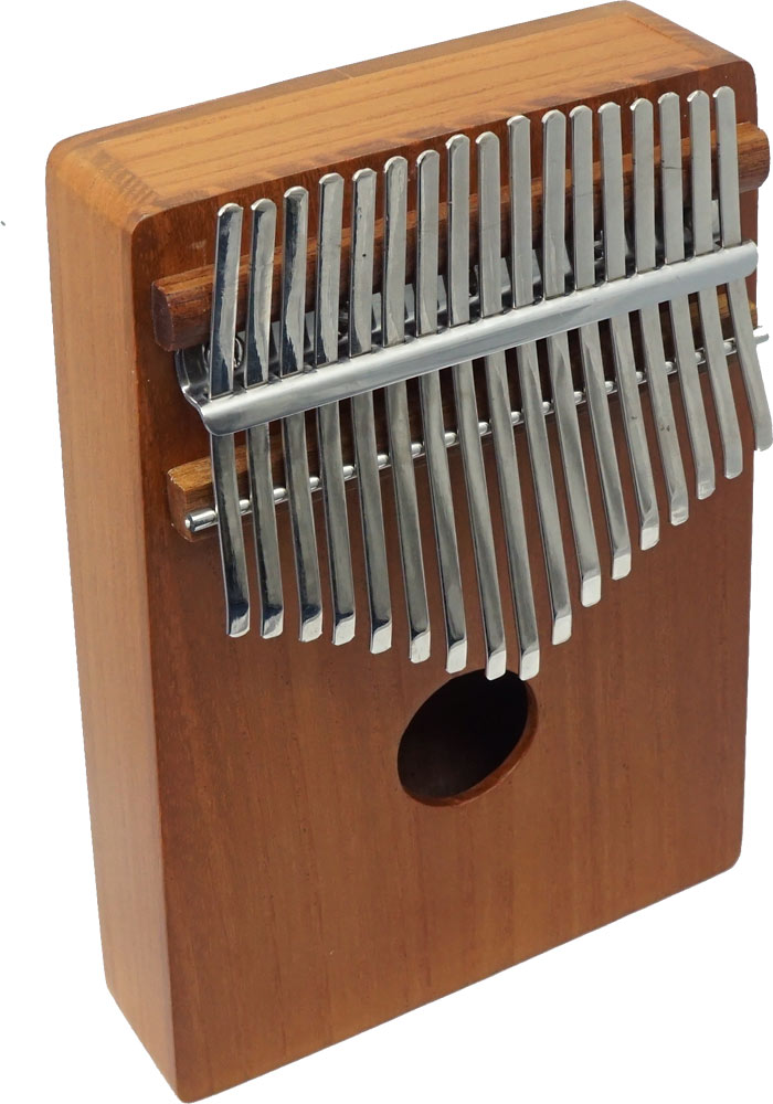 Atlas Wooden Mbira, 17 Note Thumb piano with Large soundbox with two wah holes