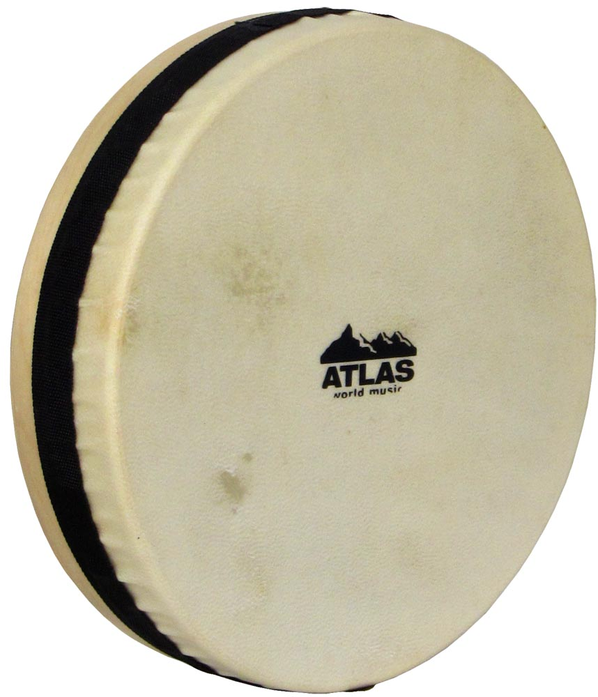 Atlas 10inch Tuneable Hand Drum Ply maple wood shell with contoured edges