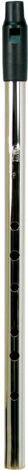 Howard Low D Whistle, Nickel, Tuneable With tuneable black plastic mouthpiece