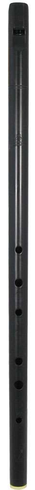 Tony Dixon Low D Whistle, One Piece Tapered bore low D whistle, made from black plastic