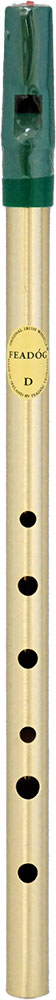 Feadog Brass High D Whistle, Single Hygiene sealed