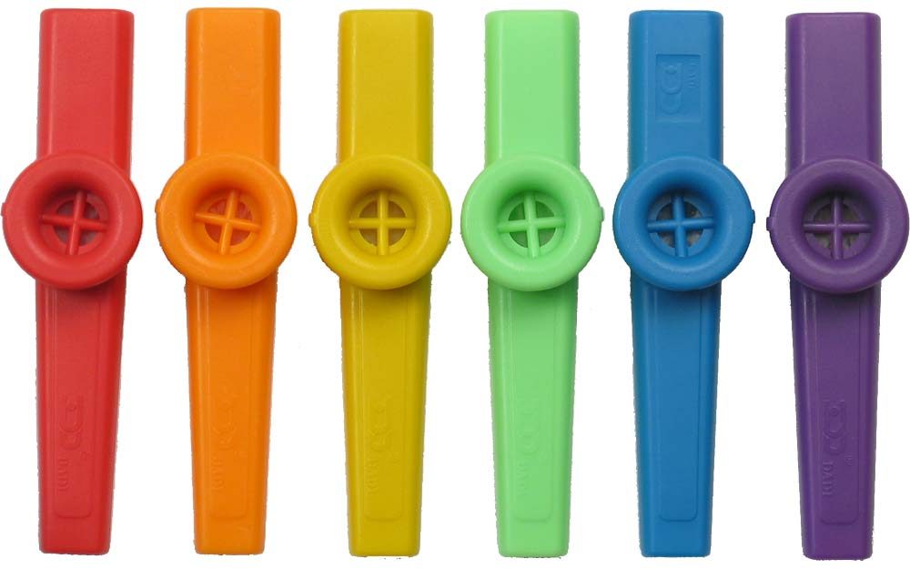 Atlas Plastic Colored Kazoo Single Brightly colored kazoo in a choice of 6 colors