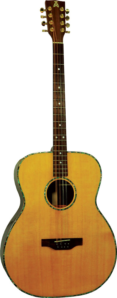 Ashbury Iona Guitar Bouzouki Solid spruce top with solid rosewood back and sides. Dreadnought shape