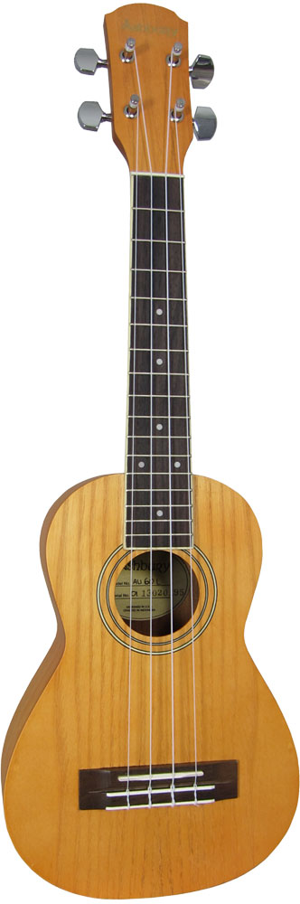 Ashbury AU-60 Concert Ukulele, Left Handed Concert size. Ash top, back and sides, bound fingerboard, geared tuners