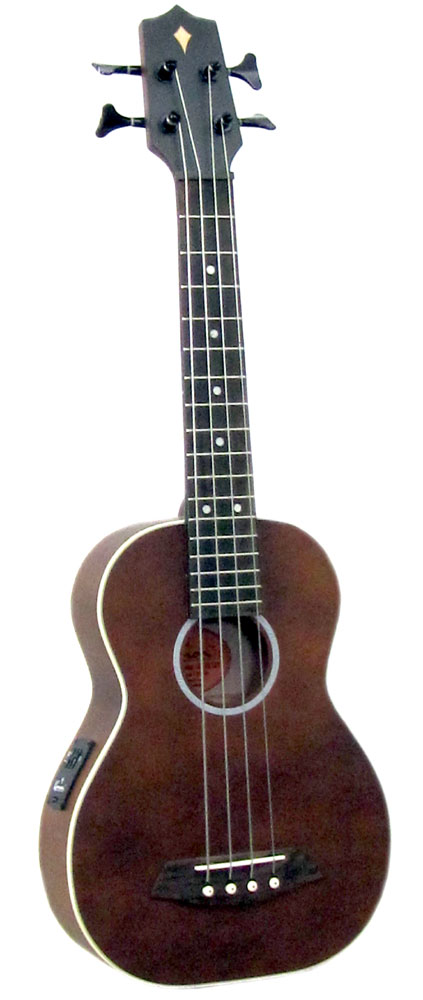Ashbury AU-90 Bass Ukulele, Solid Spruce Top Solid spruce top, solid maple back and mahogany sides. Flatwound alloy strings