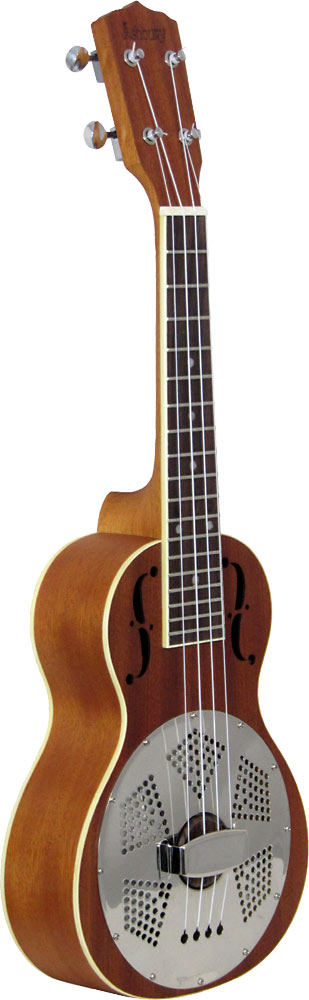 Ashbury AU-100 Concert Resonator Ukulele, Wood Wooden body Concert Uke with single resonator cone.
