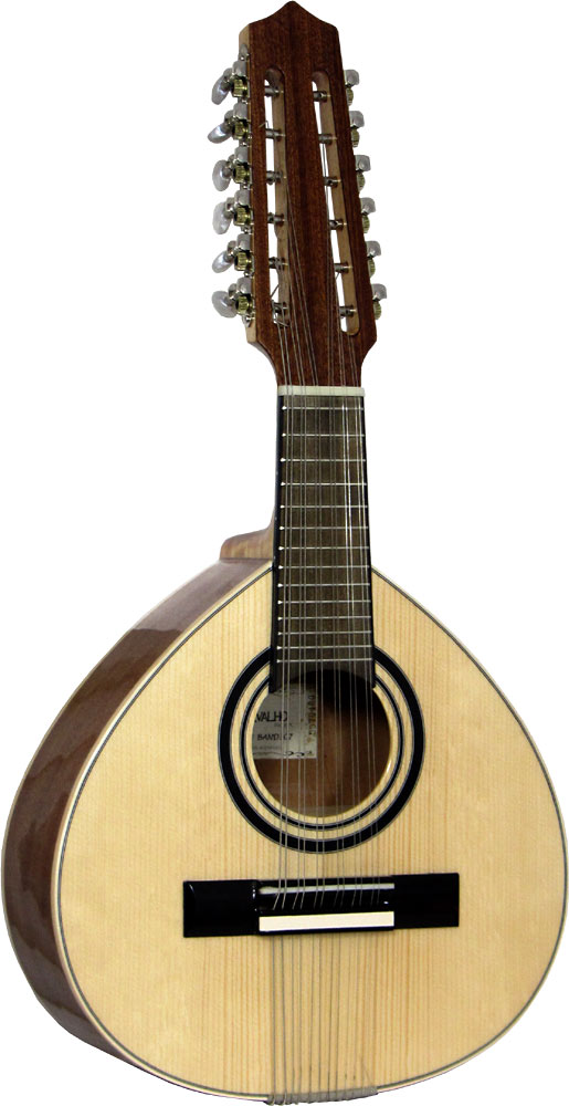 Carvalho Bandurria Solid spurce top with sapele body. 12 strings in 6 courses. Spanish folk inst