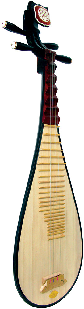 Atlas Pipa, Chinese Lute The Chinese lute, 4 strings, 30 frets, 720 scale length, rounded back