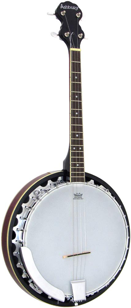 Ashbury AB-35 Tenor Banjo, 17 Fret, Mahogany Short scale 4 string, aluminum rim, 30 tension hooks, mahogany resonator.