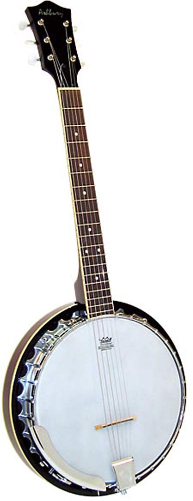 Ashbury AB-35 6 String Guitar Banjo, Mahogany Tuned just like a guitar! Mahogany resonator, 11inch Remo head