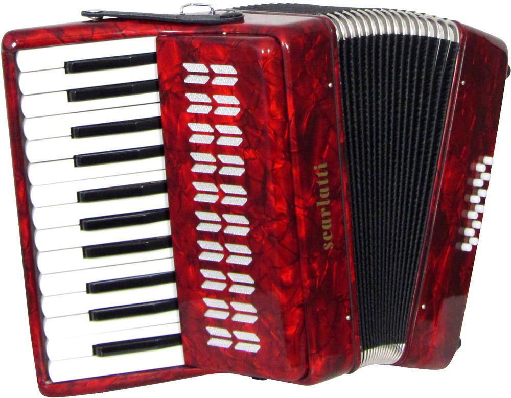 Scarlatti Piano Accordion 12 Bass Red Hobgoblin Music Usa