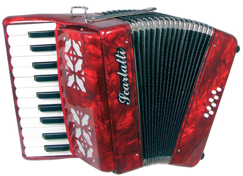Scarlatti Piano Accordion 8 Bass Red Hobgoblin Music Usa