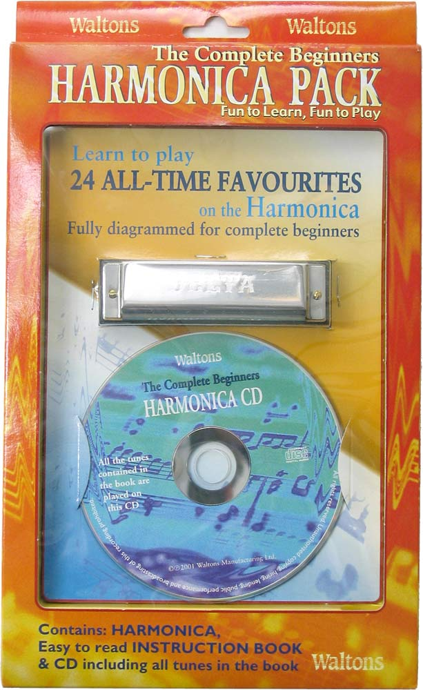 Waltons Harmonica Book, CD & Harp Pack The Walton's tutor and CD packed with a standard diatonic Harmonica