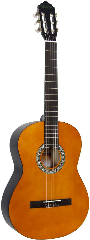Delgada DGC-10 Classical Guitar, Full Size Classical model with Linden wood top, back and sides