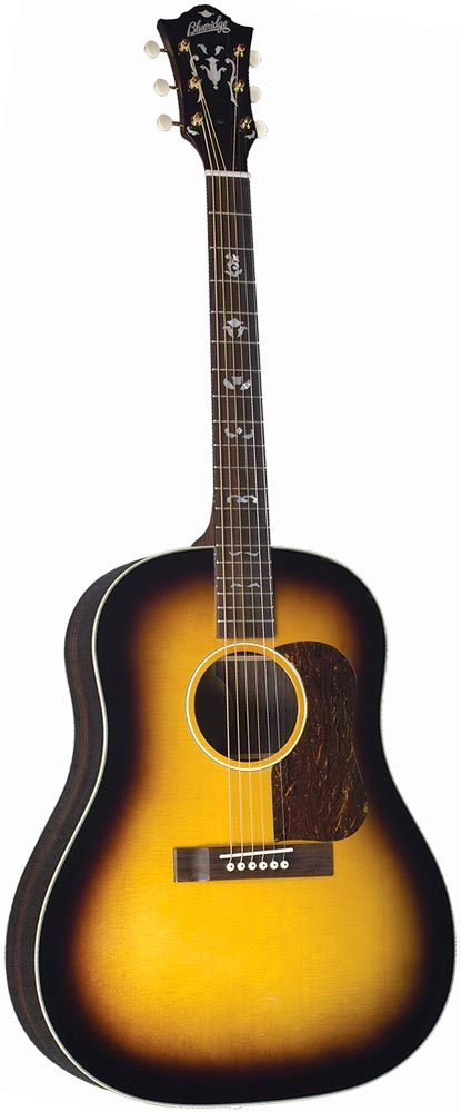 Blueridge BG-160 Historic Series Guitar Solid sitka spruce top with scalloped bracing. Slope shoulder body style