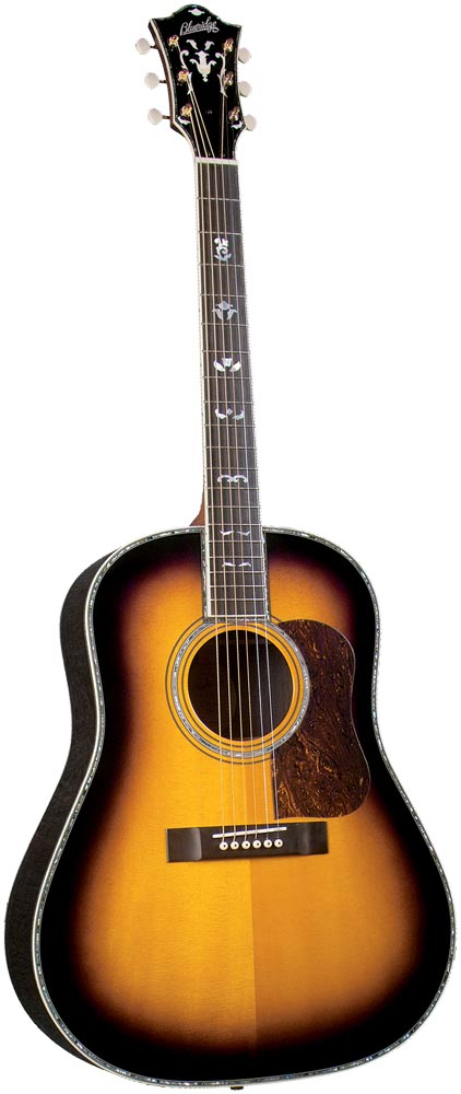Blueridge BR-180RW Historic Series Guitar Premium Solid sitka spruce top with scalloped braces