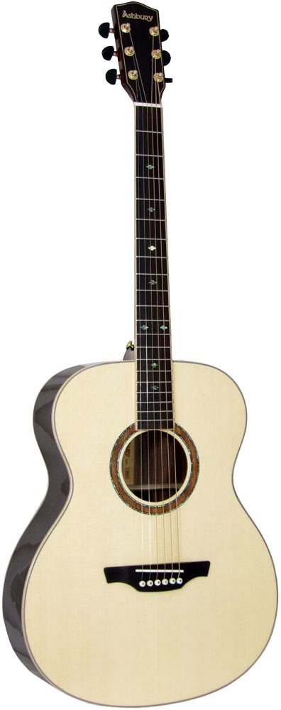 Ashbury AG-160 000 Guitar, Left handed Left handed. Solid spruce top with 2 piece rosewood back with maple center strip