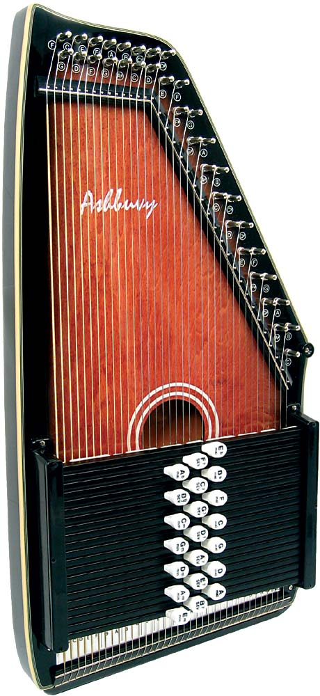 Ashbury AAH-21 21 Bar Deluxe Autoharp Eb, Bb, F, C, G, D, A, F7, C7, G7, D7, A7, E7, B7, Ab,  Bb7, Cm, Gm, Dm, Am, Em.
