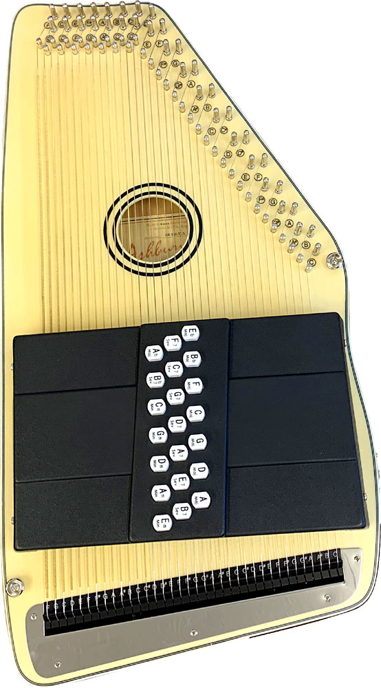 Ashbury AAH-21 21 Bar Electro Autoharp Solid spruce top, pick-up with tone and volume controls,