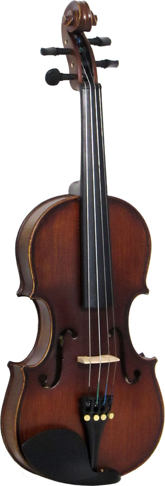 Valentino VG-102 1/4 Size Violin Outfit Carved solid spruce top, carved maple body with one piece back