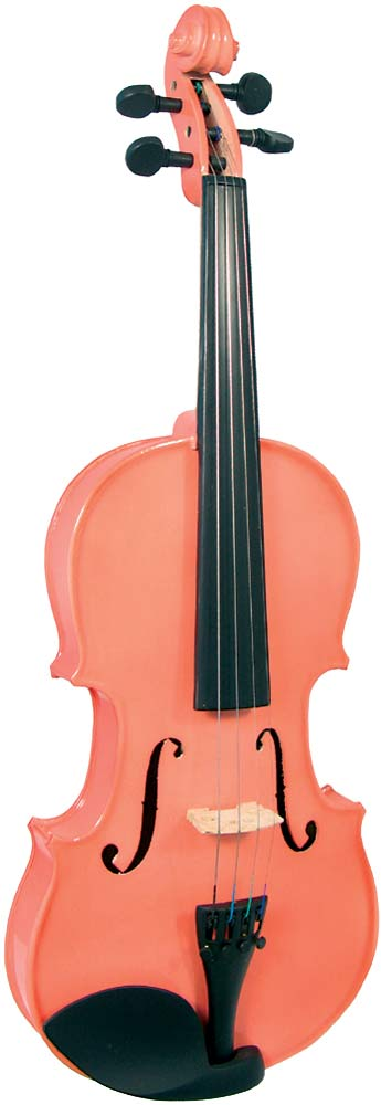 Blue Moon VG-105 Pink Violin, 3/4 Size Colored violin outfit, Solid spruce top, maple body. Ebonized fittings