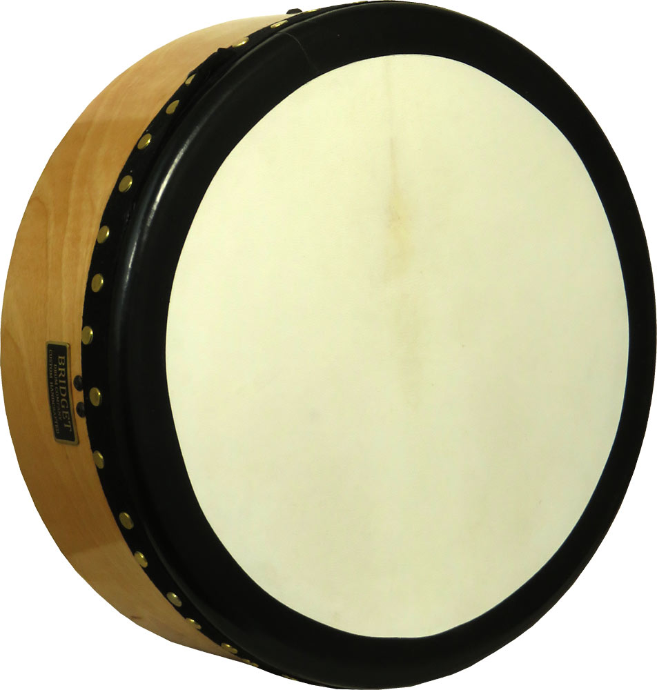 Bridget 14inch Tuneable Bodhran 4 1/2 inch Deep. Handmade drum shell are made from multi layer hardwood