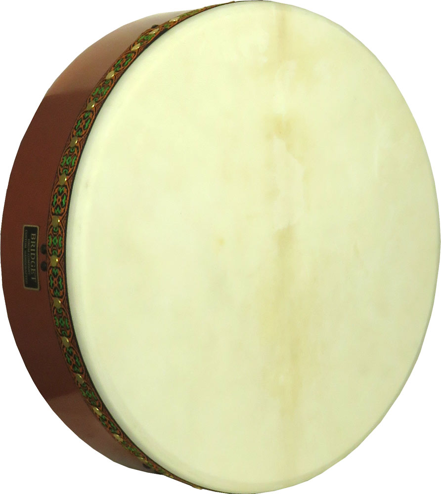 Bridget 16inch Tuneable Bodhran 4 inch Deep. Bridget handmade drum shell are made from multi layer hardwood