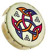 Glenluce 8inch Bodhran, Shield design