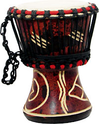 Atlas Djembe 4inch Head, Wooden Body