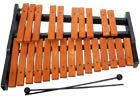 Atlas 25 note Xylophone 2 octaves from G to G. Light brown colored tone bars