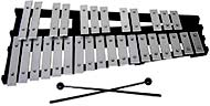 Atlas 30 Note Glockenspiel 2 1/2 octaves from G to C. Aluminum bars on a black wooden folding frame