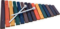 Atlas 2 Octave Xylophone Colored wooden Xylophone with beaters