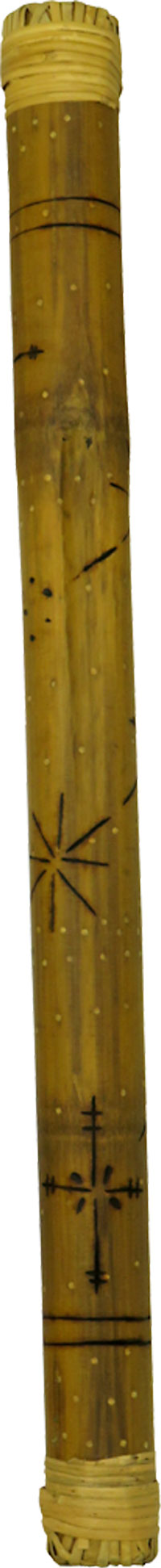 Atlas AP-L710 Bamboo Rainstick, 75cm Long Pokerwork designs. Approx 75cm long and 5cm diameter