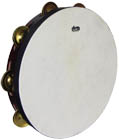 Atlas 10inch Pro Tambourine, Single 10inch natural skin head with a single row of dry jingles