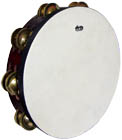 Atlas 10inch Pro Tambourine, Double 10inch natural skin head with a double row of dry jingles