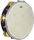 Atlas 10inch Maple Tambourine, Double