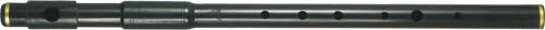 Tony Dixon Flute in G, Tuneable, Black Student priced Irish style flute, made from 2 joints of plastic, black