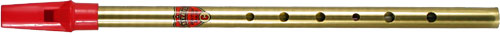 Generation Brass C Whistle Tin whistle with a red plastic mouthpiece