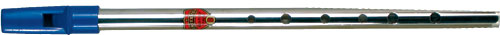 Generation Nickel D Whistle Tin whistle with a blue plastic mouthpiece