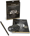 Clarke High D Whistle Set, Book/CD Complete with Clarke Original black D Whistle, tutor book and CD