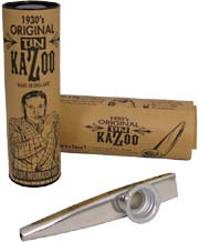 Clarke Metal Kazoo, Silver Silver colored, Comes with display tube and information sheet