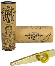 Clarke Gold Color Metal Kazoo, Single Gold colored, Comes with display tube and information sheet