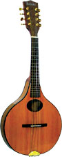Ashbury Lindisfarne Mandolin Onion shaped body. Solid cedar top, solid koa back and sides.