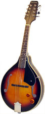 Ashbury AM-10 A Style Electro Mandolin, S/B Electro, spruce top, mahogany body, F-hole, bridge P/U, tone & vol.