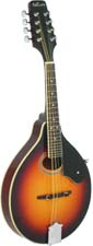 Ashbury AM-50 A Style Mandolin, Tobacco S/B Solid spruce top, maple body with oval soundhole. Tobacco sunburst